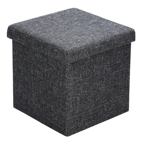 Folding Storage Ottoman Footstool Bench Pouffe Toy Box Living Room Bedroom