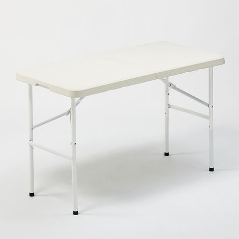 Folding table 122x60 for garden and rectangular camping PELVOUX