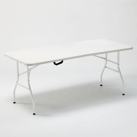 Folding table 180x74cm for garden and rectangular camping ZUGSPITZE.