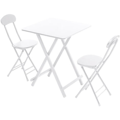 """main image of """"Folding Dining Table and Chairs Compact Kitchen Dining Room Furniture with Metal Legs"""""""