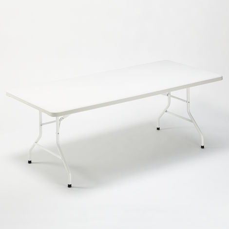 Folding table 200x90 for garden and camping plastic DOLOMITI