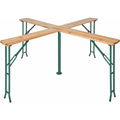 Folding table Quattro 241 x 241 x 103 cm - bar table, foldable table, wooden folding table - brown
