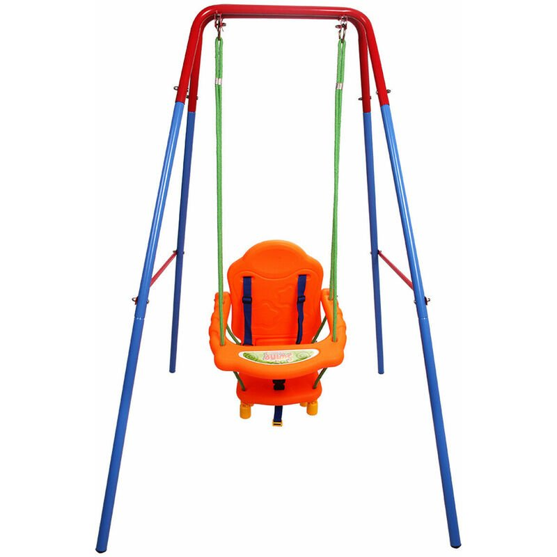 Folding Toddler Baby Outdoor Swing Safety Chair Set Kids