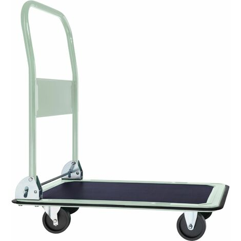 Folding trolley - hand truck, flatbed trolley, platform trolley - white - weiß