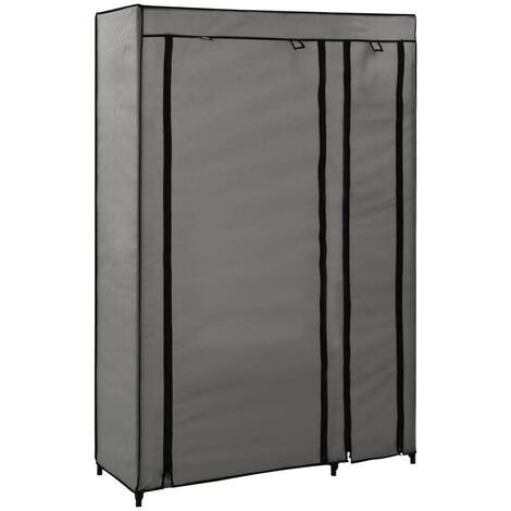 Folding Wardrobe Grey 110x45x175 cm Fabric