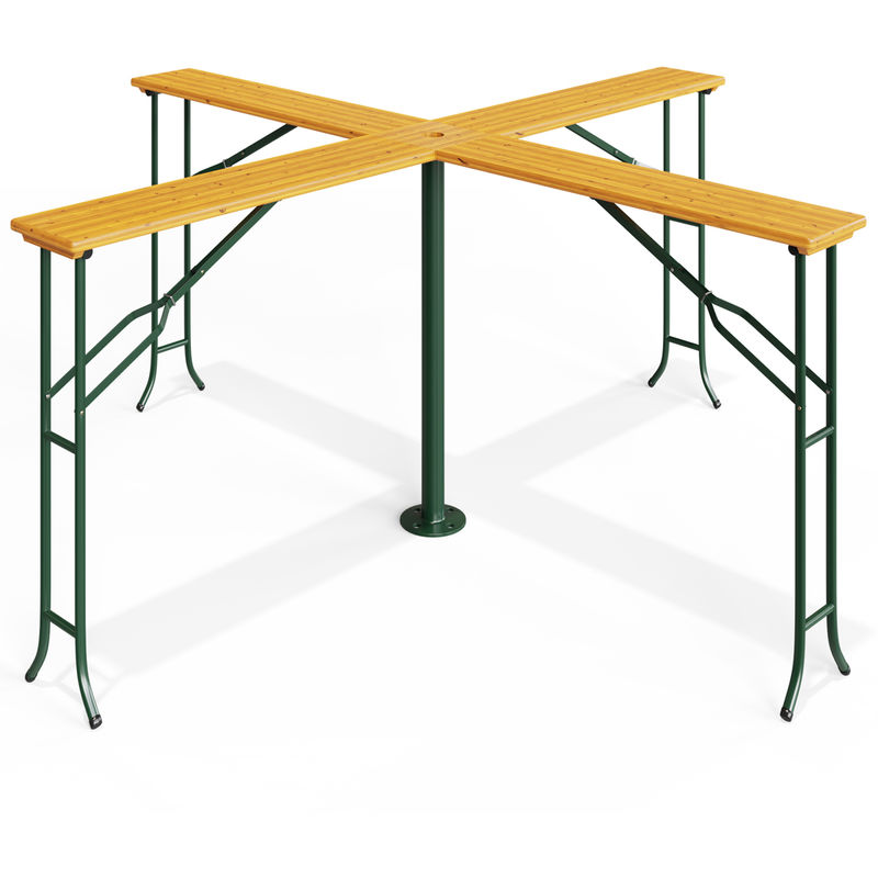Wooden Garden Table With Parasol 2 45m