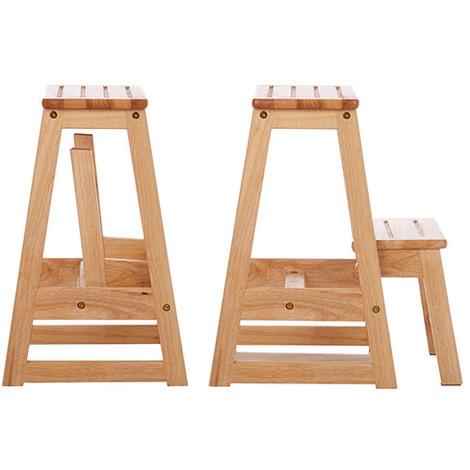 folding wooden step stool. Black Bedroom Furniture Sets. Home Design Ideas