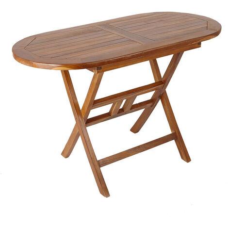 Folding Wooden Teak Garden Table 6-Seater Outdoor Dining Furniture Patio Decking