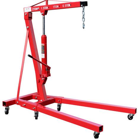 Folding Workshop Crane double pump 2000kg Engine lifting gear crane