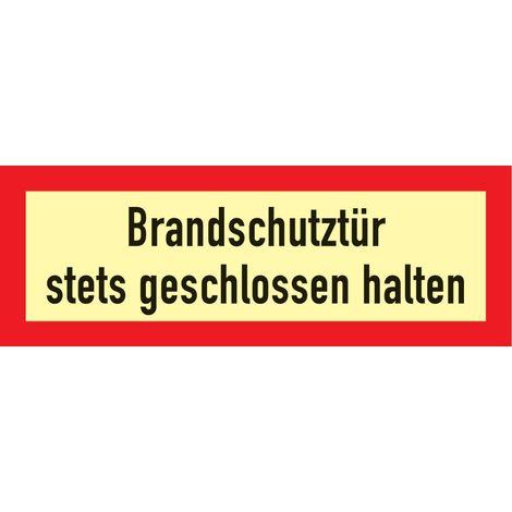 Folie Brandschutztür 297x105mm rot/weiß nachleuchtend selbstklebend