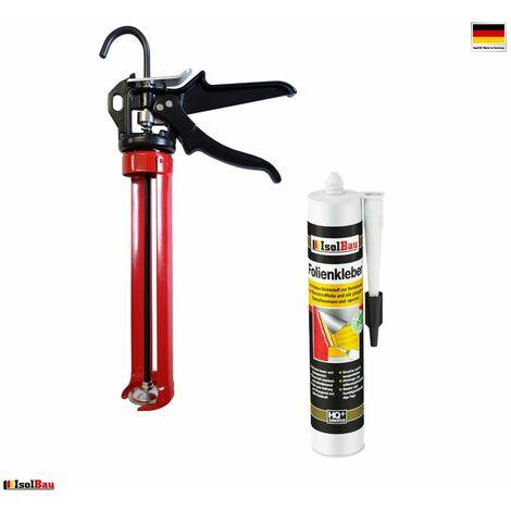 Folienkleber 1 x Dichtkleber 450g + HQ Auspresspistole Dampfbremse Dampfsperre