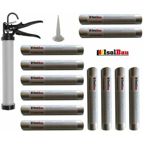 Folienkleber 12 x 600ml Dichtstoff + Schlauchbeutelpistole Auspresspistole SET