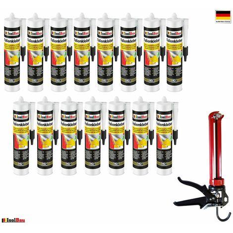 Folienkleber 15 x Dichtkleber + Premium Auspresspistole Dampfbremse Dampfsperre