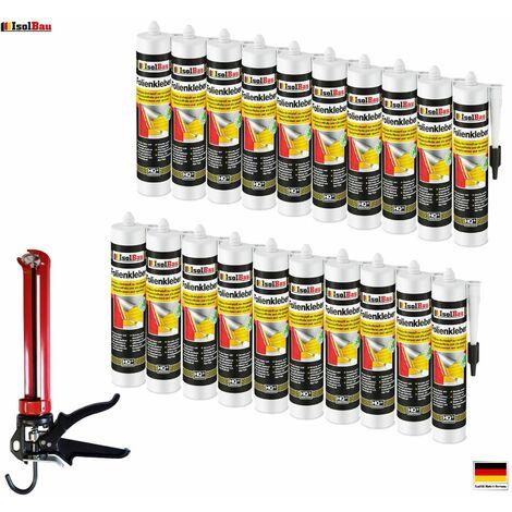 Folienkleber 20 x Dichtkleber + Premium Auspresspistole Dampfbremse Dampfsperre