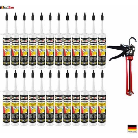 Folienkleber 24 x Dichtkleber + Premium Auspresspistole Dampfbremse Dampfsperre
