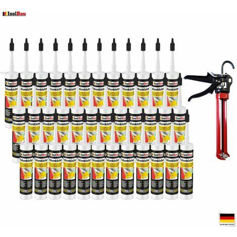 Folienkleber 36 x Dichtkleber + Premium Auspresspistole Dampfbremse Dampfsperre