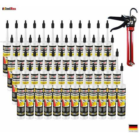 Folienkleber 48 x Dichtkleber + Premium Auspresspistole Dampfbremse Dampfsperre