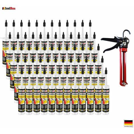 Folienkleber 60 x Dichtkleber + Premium Auspresspistole Dampfbremse Dampfsperre