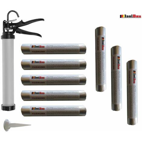 Folienkleber 8 x 600ml EPDM Teichfolienkleber + Schlauchbeutelpistole