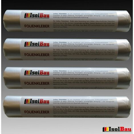 Folienkleber MS Polymer EPDM Teichfolienkleber Fensterband Kleber 4 x 600 ml