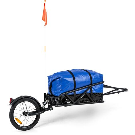 """Follower ensemble remorque à vélo roue de 16"""" 35 kg de charge sac de transport 120 litres"""