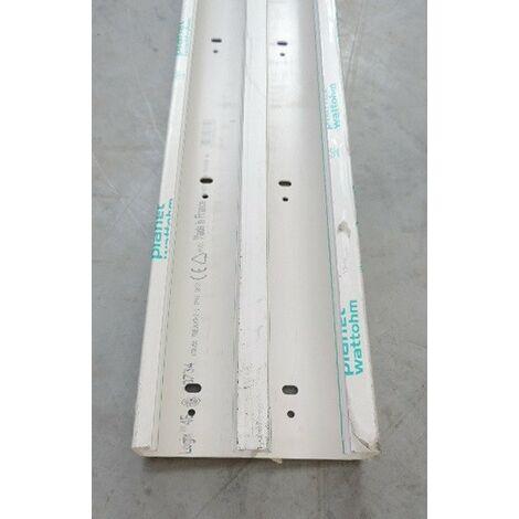 Fond de goulotte 130x50mm 2 compartiments blanc antibactérien sans couvercle (au metre) LOGIX 45 PLANET WATTOHM 68734