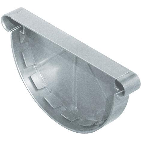 Fond de gouttière PVC 25 droite/gauche - zinc