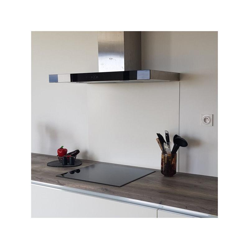 Fond de Hotte / Crédence Blanche Mat RAL 9010 - Hauteur 70 cm x Largeur 90 cm