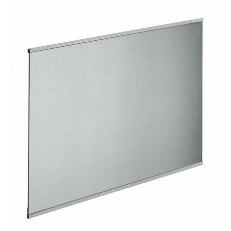 Fond de hotte en verre de 5mm d'épaisseur style inox - 90x70cm