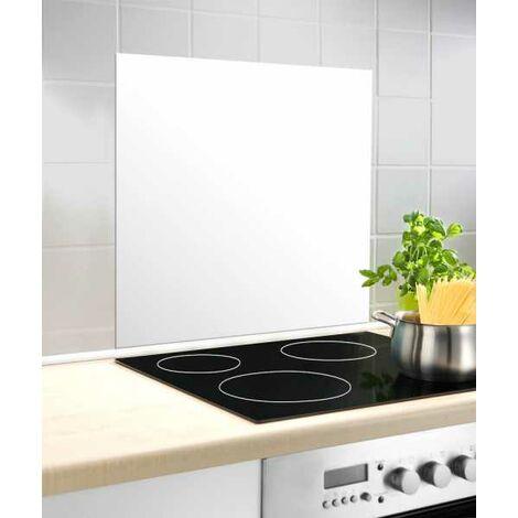Fond de hotte verre Blanc 60x70cm