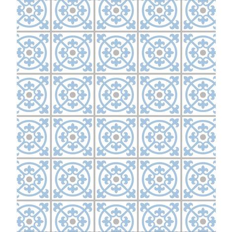 Fond de hotte verre Carrelage bleu 60x70 WENKO