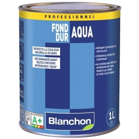 Fond dur Aqua-Polyuréthane incolore bidon de 1 litre