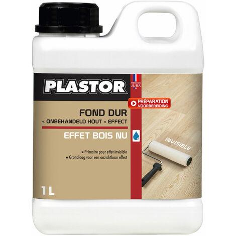 Fond dur Effet Brut Plastor : protection invisible qui neutralise la couleur du bois et laisse le parquet naturel
