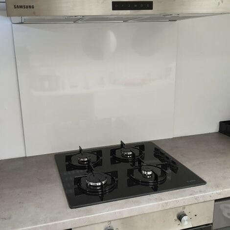 Fonde de hotte / Crédence Blanc Securite H 20 cm x L 50 cm de 1,5 mm