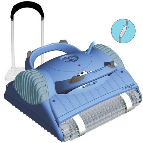 Fondo y paredes del robot de piscina eléctrico con soporte - master m3 - dolphin -