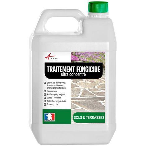 Fongicide Antimousse concentré pour terrasse et sols - Élimine aussi algues et lichens - ANTI-DÉPÔT VERT SOLS TERRASSES
