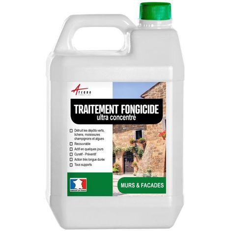 Fongicide concentré pour murs façade Antimousse - Élimine aussi algues et lichens - ANTI-DÉPÔT VERT