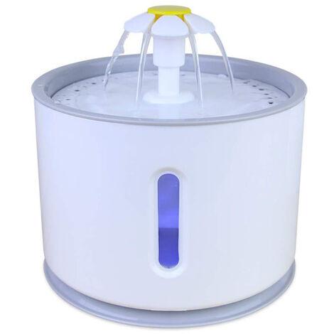 Fontaine ¨¤ boire pour chat Fontaine ¨¤ circulation automatique pour animaux de compagnie ¨¤ boire LED Fontaine ¨¤ boire visuelle pour animaux de compagnie USB DC Pump + LED sans adaptateur