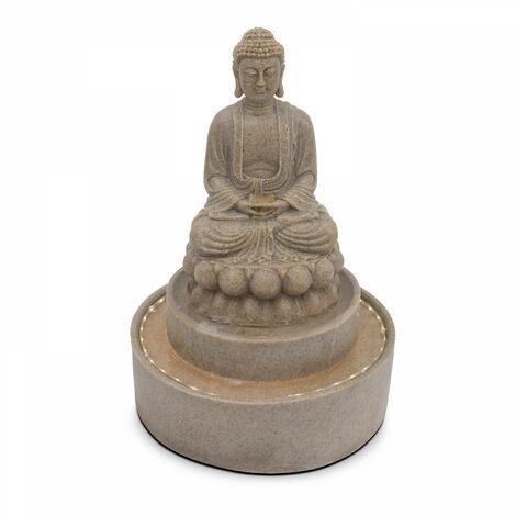 Fontaine Bouddha assis Mokai - Gris