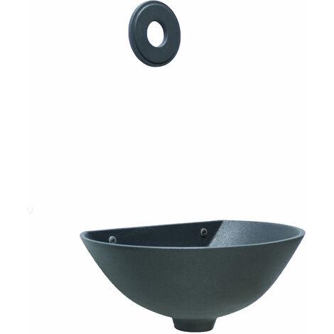 """main image of """"Fontaine de baignoire murale mod. Jardin """"600"""" en fonte grise avec verrière lisse"""""""