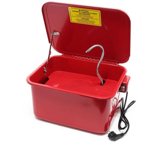 Fontaine de dégraissage Nettoyage de pièces mécaniques Bac de lavage 13l avec pompe Garage Atelier
