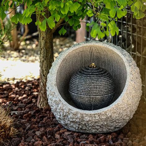 Fontaine de jardin fontaine + décoration cascade lumineuse LED fontaine d'intérieur 230V 101451
