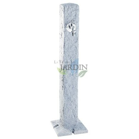 Fontaine de jardin imitation pierre de granit clair