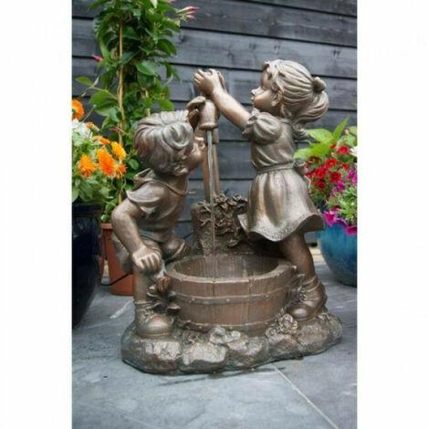 Fontaine de jardin Memphis Ubbink grise en résine