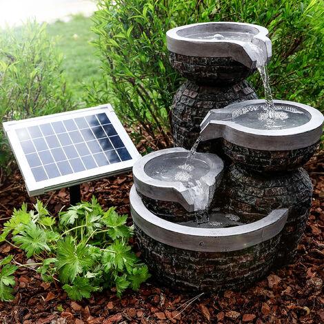 Fontaine de jardin solaire + fontaine à batterie Fontaine d'eau solaire esotec 101314