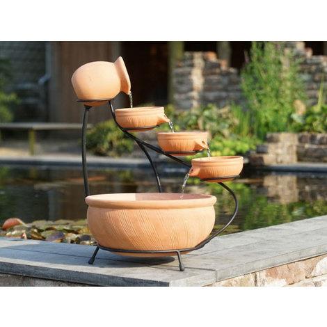 Fontaine de terrasse en terre cuite AquaArte Terracotta Ø36cm