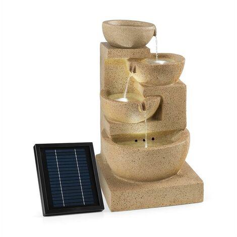 Fontaine décorative de jardin 3W solaire LED polyrésine - imitation gr