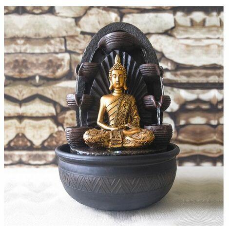 Fontaine Bouddha Chakra - D 26 x H 40 cm - Polyrésine - Livraison gratuite