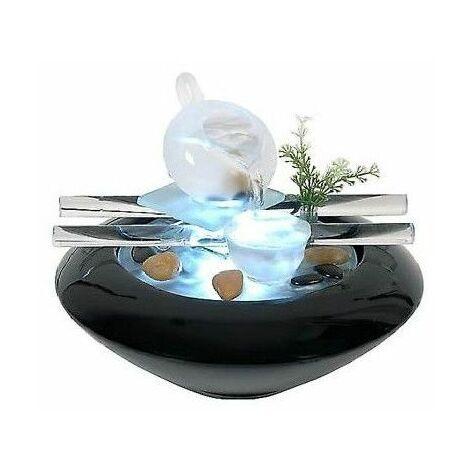 Fontaine D Intérieur électrique En Verre Et En Céramique Cristal Line Livraison Gratuite