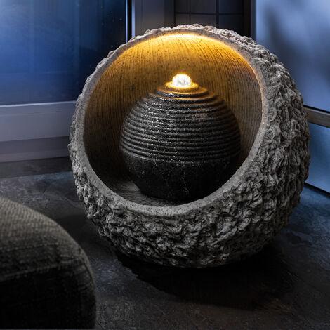 Fontaine d'intérieur fontaine + éclairage LED fontaine ornementale fontaine de jardin 230V 101401